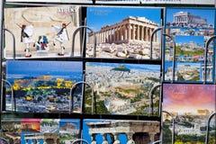 Περίπτερο εφημερίδων με τις κάρτες από την Ελλάδα Στοκ εικόνες με δικαίωμα ελεύθερης χρήσης