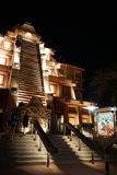 Περίπτερο ναών του Μεξικού Epcot τη νύχτα στοκ εικόνα