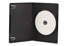 Περίπτωση του CD με τον κενό δίσκο DVD που απομονώνεται στο λευκό Στοκ Εικόνα