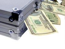 Περίπτωση των χρημάτων Στοκ εικόνα με δικαίωμα ελεύθερης χρήσης