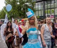 Περίπλοκα ντυμένοι συμμετέχοντες, κατά τη διάρκεια της ημέρας οδών του Christopher στοκ φωτογραφίες