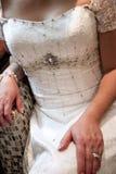Περίπλοκο γαμήλιο φόρεμα στοκ φωτογραφία