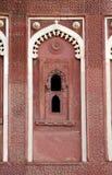 Περίπλοκο σχέδιο και χάραξη στο παλάτι Jahangir Στοκ Εικόνα