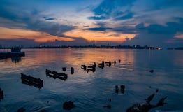 Περίχωρα κόλπων της Αβάνας, που βλέπουν στο ηλιοβασίλεμα στοκ φωτογραφίες