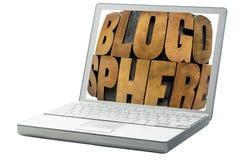 Περίληψη λέξης Blogosphere Στοκ εικόνες με δικαίωμα ελεύθερης χρήσης