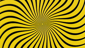 Περίληψη ακτίνες σε κίτρινο στο Μαύρο απεικόνιση αποθεμάτων