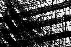 Περίληψη αρχιτεκτονικής - γραμμή & κιβώτιο - Scafffold - τέχνη κατασκευής Στοκ φωτογραφία με δικαίωμα ελεύθερης χρήσης