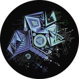 Περίληψη, γεωμετρικός, γραφική, cyber υπόβαθρο χρώματος, γραμμή Διανυσματική απεικόνιση
