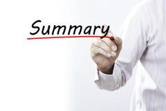 Περίληψη γραψίματος χεριών επιχειρηματιών με το δείκτη, επιχειρησιακή έννοια Στοκ φωτογραφία με δικαίωμα ελεύθερης χρήσης