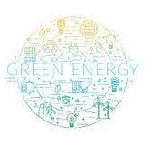Περίληψη καθορισμένη - πράσινη ενέργεια, eco, ανακύκλωσης εικονίδια Στοκ φωτογραφία με δικαίωμα ελεύθερης χρήσης