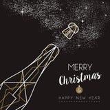 Περίληψη μπουκαλιών deco καλής χρονιάς Χαρούμενα Χριστούγεννας Στοκ φωτογραφία με δικαίωμα ελεύθερης χρήσης