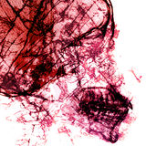 Περίληψη παθογόνων με το υπόβαθρο των ακτίνων X ταινιών στη διπλή έκθεση Στοκ Φωτογραφίες