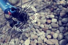 Περίληψη ποδηλάτων βουνών Στοκ Εικόνες