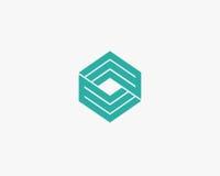 Περίληψη σχεδίου γραμμών λογότυπων γραμμάτων Ε Στοκ εικόνα με δικαίωμα ελεύθερης χρήσης