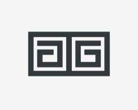 Περίληψη σχεδίου γραμμών λογότυπων γραμμάτων AA Στοκ Εικόνες