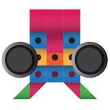 Περίληψη σχεδίου κιβωτίων ρομπότ Στοκ εικόνες με δικαίωμα ελεύθερης χρήσης