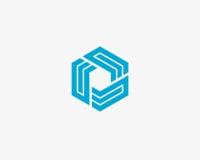 Περίληψη σχεδίου λογότυπων γραμμάτων Ε Στοκ εικόνες με δικαίωμα ελεύθερης χρήσης