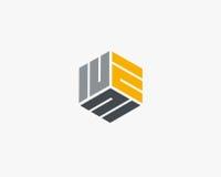 Περίληψη σχεδίου λογότυπων γραμμάτων Ε Στοκ Εικόνες