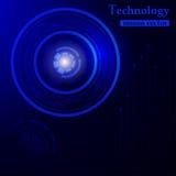 Περίληψη τεχνολογίας HUD Στοκ Εικόνες