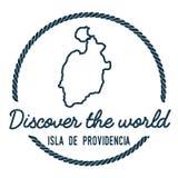 Περίληψη της Isla de Providencia Map Στοκ Εικόνες