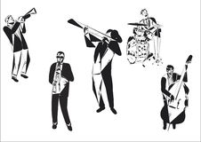 Περίληψη της Jazz Στοκ εικόνα με δικαίωμα ελεύθερης χρήσης