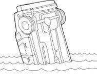 Περίληψη του αυτοκινήτου στο νερό Στοκ φωτογραφία με δικαίωμα ελεύθερης χρήσης