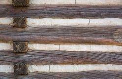 Περίληψη του εκλεκτής ποιότητας παλαιού τοίχου καμπινών κούτσουρων Στοκ εικόνα με δικαίωμα ελεύθερης χρήσης