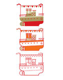 Περίληψη του κρουαζιερόπλοιου Στοκ Εικόνες