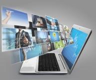 Περίληψη φορητών προσωπικών υπολογιστών Στοκ φωτογραφία με δικαίωμα ελεύθερης χρήσης