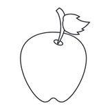 Περίληψη φρούτων άδειας της Apple απεικόνιση αποθεμάτων
