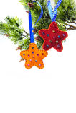 Περίληψη Χριστουγέννων με τη διακόσμηση αστεριών Στοκ φωτογραφία με δικαίωμα ελεύθερης χρήσης