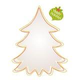 Περίληψη χριστουγεννιάτικων δέντρων στο άσπρο υπόβαθρο Στοκ Εικόνες