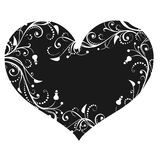 Περίληψη όμορφο floral διάνυσμα απεικόνισης καρδιών Στοκ Φωτογραφία