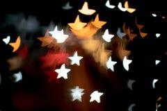 Περίληψη bokeh και σχέδιο φλογών φακών στη μορφή αστεριών με το εκλεκτής ποιότητας φίλτρο Στοκ φωτογραφία με δικαίωμα ελεύθερης χρήσης