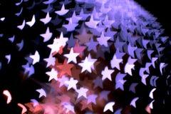 Περίληψη bokeh και σχέδιο φλογών φακών στη μορφή αστεριών με το εκλεκτής ποιότητας φίλτρο Στοκ φωτογραφίες με δικαίωμα ελεύθερης χρήσης