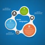 Περίληψη infographic υπό μορφή μεταβολικού στοιχεία τέσσερα σχεδίου ανασκόπησης snowflakes λευκό Στοκ φωτογραφία με δικαίωμα ελεύθερης χρήσης