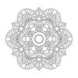 Περίληψη Mandala για το χρωματισμό του βιβλίου Αντιαγχωτικό σχέδιο θεραπείας διακοσμητικός κύκλος δ&i μπλε διάνυσμα ουρανού ουράν απεικόνιση αποθεμάτων