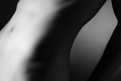 Περίληψη nude μιας κοιλίας γυναικών Στοκ Φωτογραφία