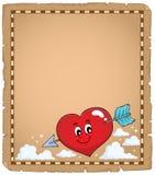 Περγαμηνή 1 θέματος καρδιών βαλεντίνων Στοκ φωτογραφία με δικαίωμα ελεύθερης χρήσης