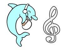 περιέχει το διάνυσμα πλέγματος κλίσης αρχείων δελφινιών Στοκ Εικόνες