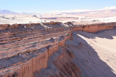 Περιήγηση με τα πόδια Valle de Λα Muerte SAN Pedro de Atacama Χιλή Στοκ φωτογραφία με δικαίωμα ελεύθερης χρήσης