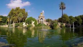 Περιβάλλον της Νίκαιας στη Βαρκελώνη, Parc de Ciutadella 4K, 15 Τον Οκτώβριο του 2017, Ισπανία απόθεμα βίντεο
