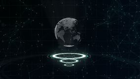 Δίκτυο δεδομένων Περιβάλλων πλανήτης Γη σε τρεις περιτυλγμένος κύκλους Κεντρική κατανομή r o r r απόθεμα βίντεο