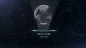 Δίκτυο δεδομένων Περιβάλλων πλανήτης Γη σε τρεις περιτυλγμένος κύκλους Κεντρική κατανομή r r o r απόθεμα βίντεο