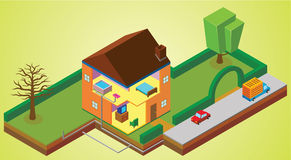 Περιβάλλον σπιτιών διανυσματική απεικόνιση