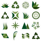 περιβαλλοντικά εικονίδια Στοκ Φωτογραφίες
