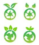 περιβαλλοντικά σύμβολα συντήρησης ελεύθερη απεικόνιση δικαιώματος