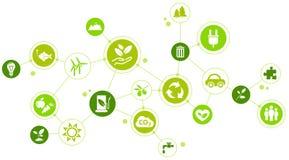 Περιβαλλοντικές προκλήσεις/πράσινο σχέδιο επιχείρησης ελεύθερη απεικόνιση δικαιώματος