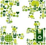 περιβαλλοντικός γρίφος  διανυσματική απεικόνιση