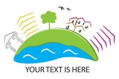 περιβαλλοντικό λογότυπ& Στοκ Εικόνες